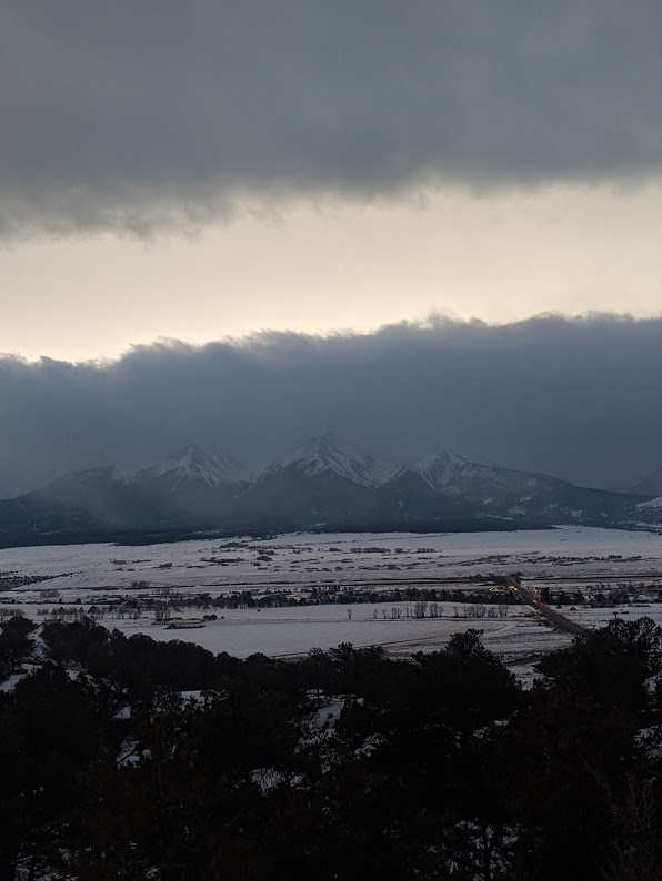 Cloud covered mountain peaks in Crested Butte