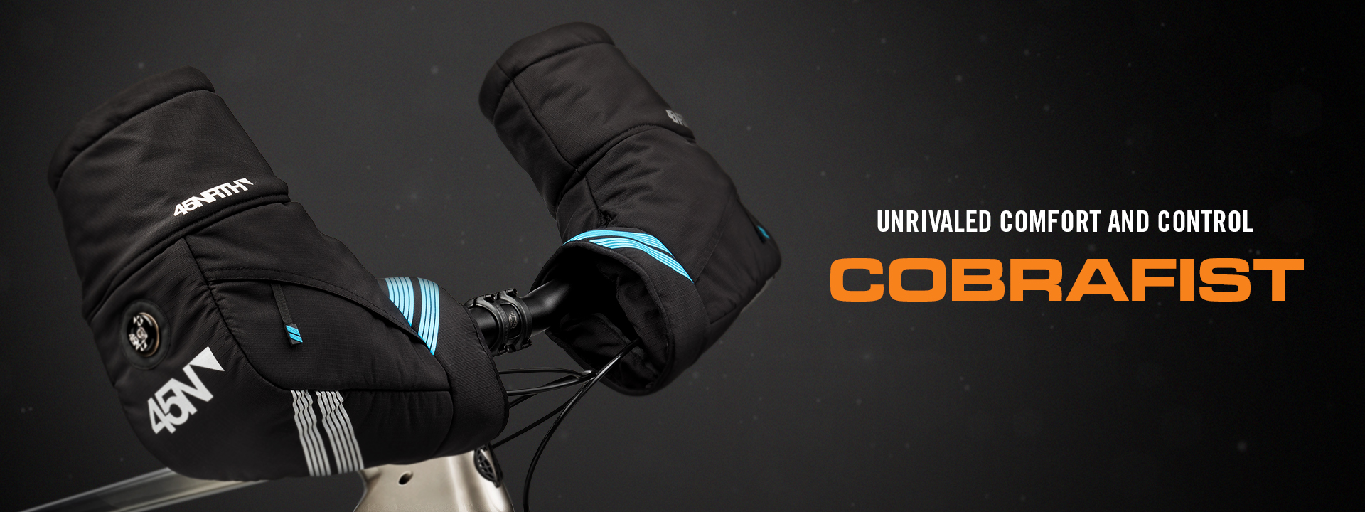 Unrivaled Comfort and Control - Cobrafist - Pogies mounted on handlebars