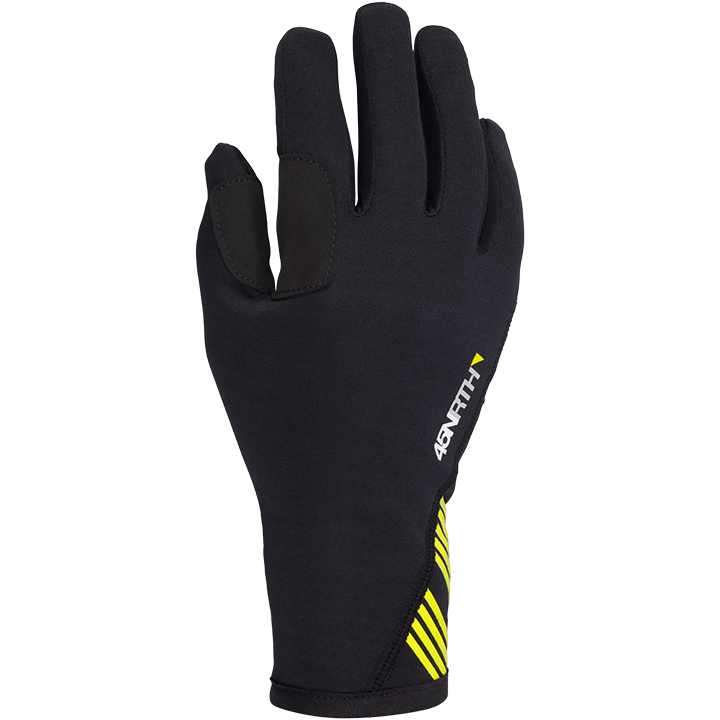 45NRTH Risor Merino Wool Cycling Gloves - Black - back of hand view