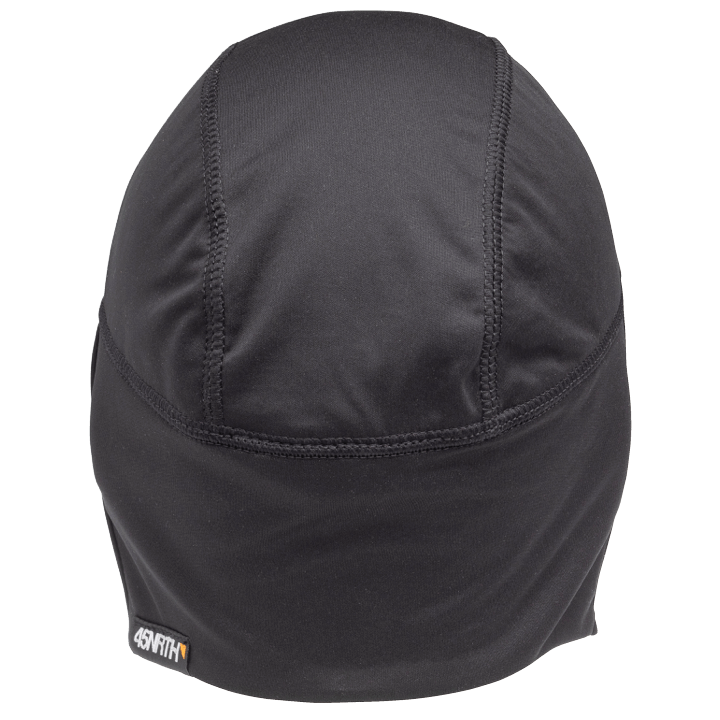 45NRTH Stove Pipe Windproof Cycling Cap - Black - rear view with 45NRTH tag