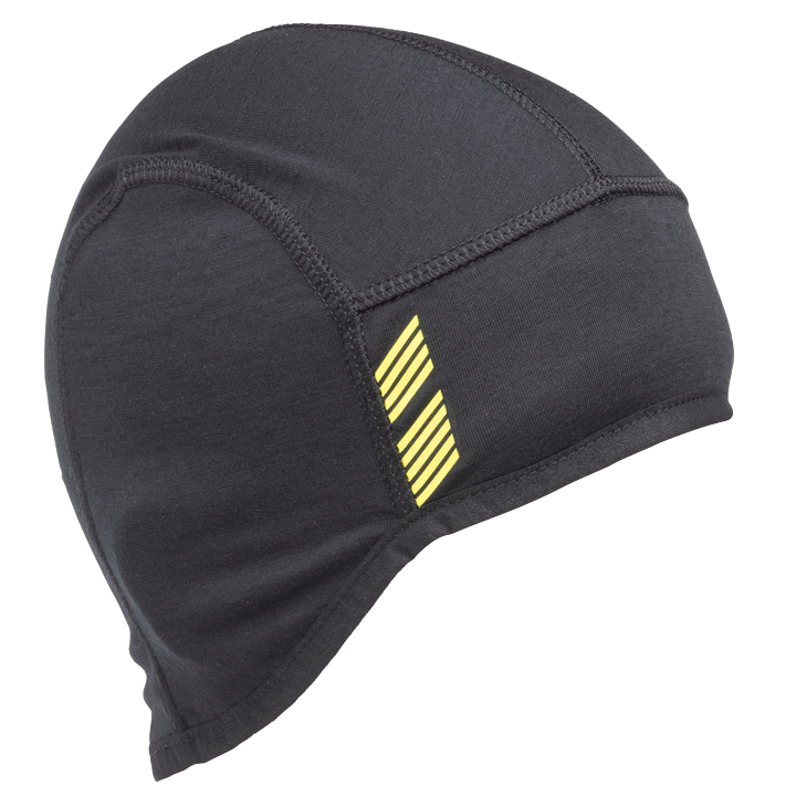 45NRTH Stavanger Wool Cycling Cap - Black - front three quarter view with design element