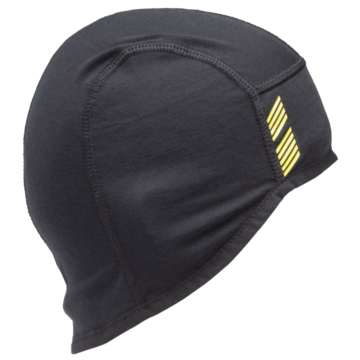 45NRTH Stavanger Wool Cycling Cap - Black - side view with design element