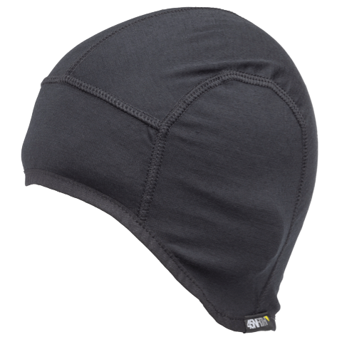 45NRTH Stavanger Wool Cycling Cap - Black - front three quarter view