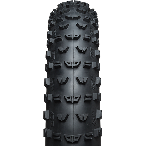 45NRTH Dunderbeist Fat Bike Tire - black - front view with tread detail