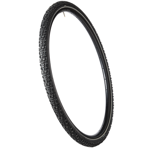 45NRTH Gravdal 700c Studded Tire - black - 33 TPI - three quarter view