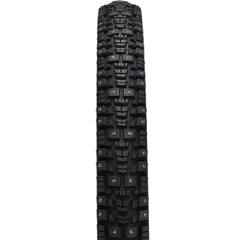 45NRTH Gravdal 26 Studded Tire - black - front view with tread detail
