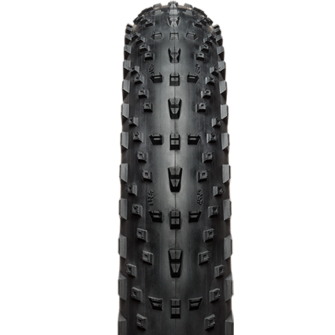 45NRTH Husker Du 4.0 Fat Bike Tire - black - front view with tread detail
