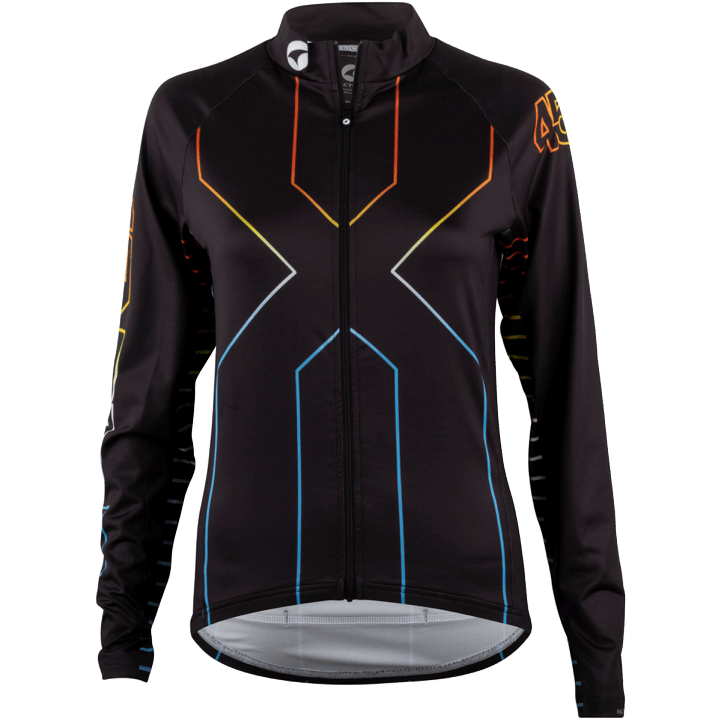 45NRTH Women's Decade Long Sleeve Jersey - Black/Multi-Color - Front