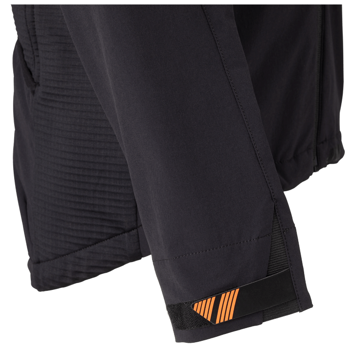 45NRTH Men's Naughtvind Winter Cycling Jacket - Black - Sleeve and cuff detail