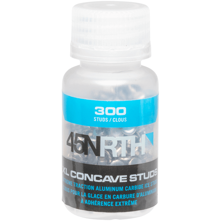 45NRTH XL Concave Studs - silver - bottle of studs