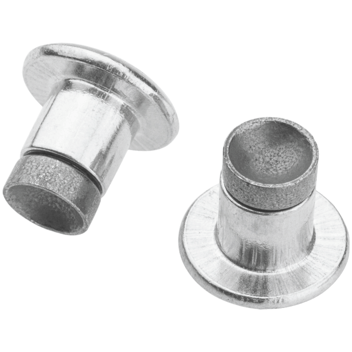 45NRTH XL Concave Studs - silver - pair of studs