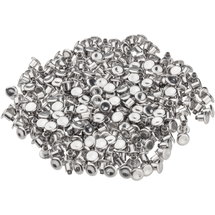 45NRTH Concave Studs - Silver - Pile of 300 studs