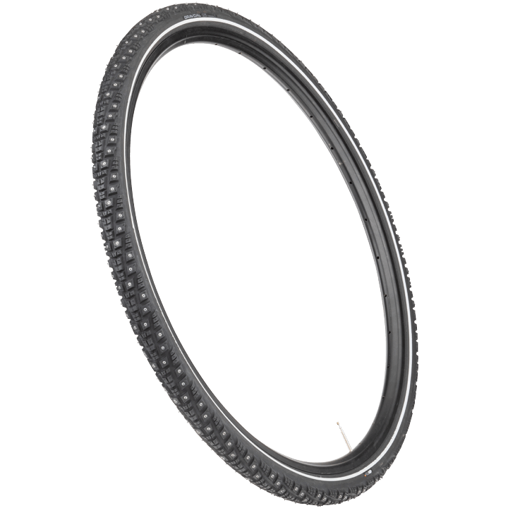 45NRTH Gravdal 700c Studded Tire - black - 60 TPI - three quarter view
