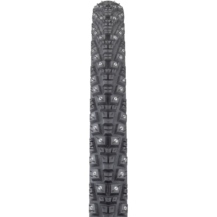 45NRTH Gravdal 700c Studded Tire - black - front view with tread detail