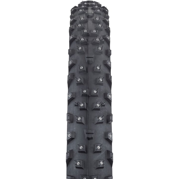 45NRTH Wrathchild 29 Studded Tire - black - front view with tread detail