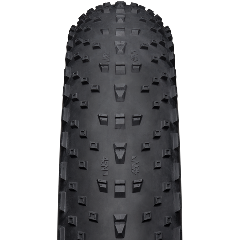 Husker Du 4.8 Fat Bike Tire - black - front view with tread detail
