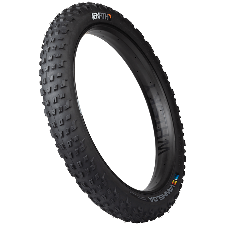 45NRTH Vanhelga Fat Bike Tire - black - three quarter view