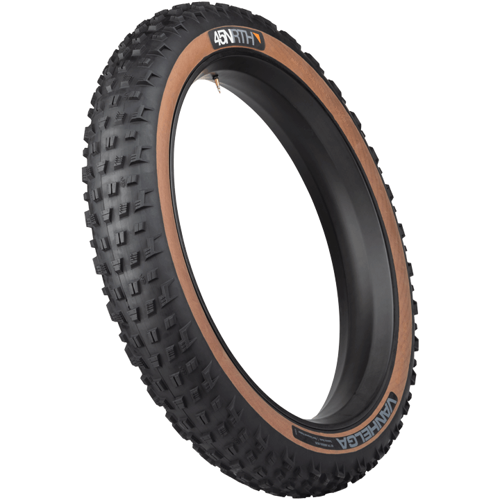 45NRTH Vanhelga Fat Bike Tire - black/tan - three quarter view