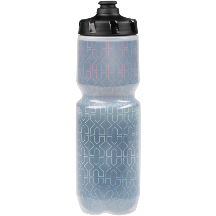 45NRTH Decade Purist Insulated Water Bottle - Black with Multi-Color Design - Back