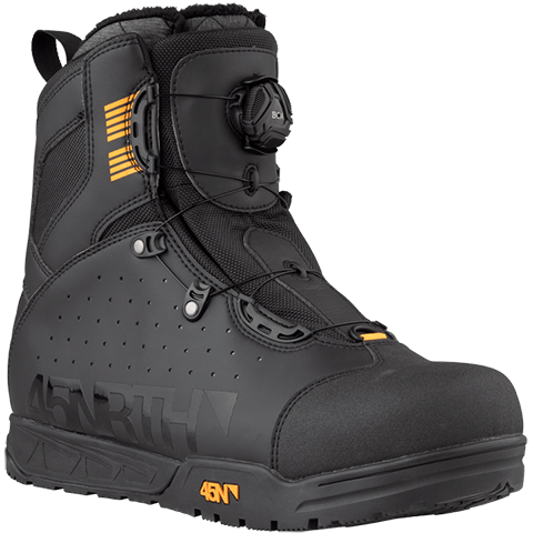 45NRTH Wolvhammer BOA Cycling Boot - black - front three quarter view