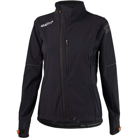 45NRTH Women's Naughtvind Winter Cycling Jacket - Black - front view
